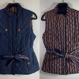 Lilly Pulitzer Reversible Quilted Printed Vest